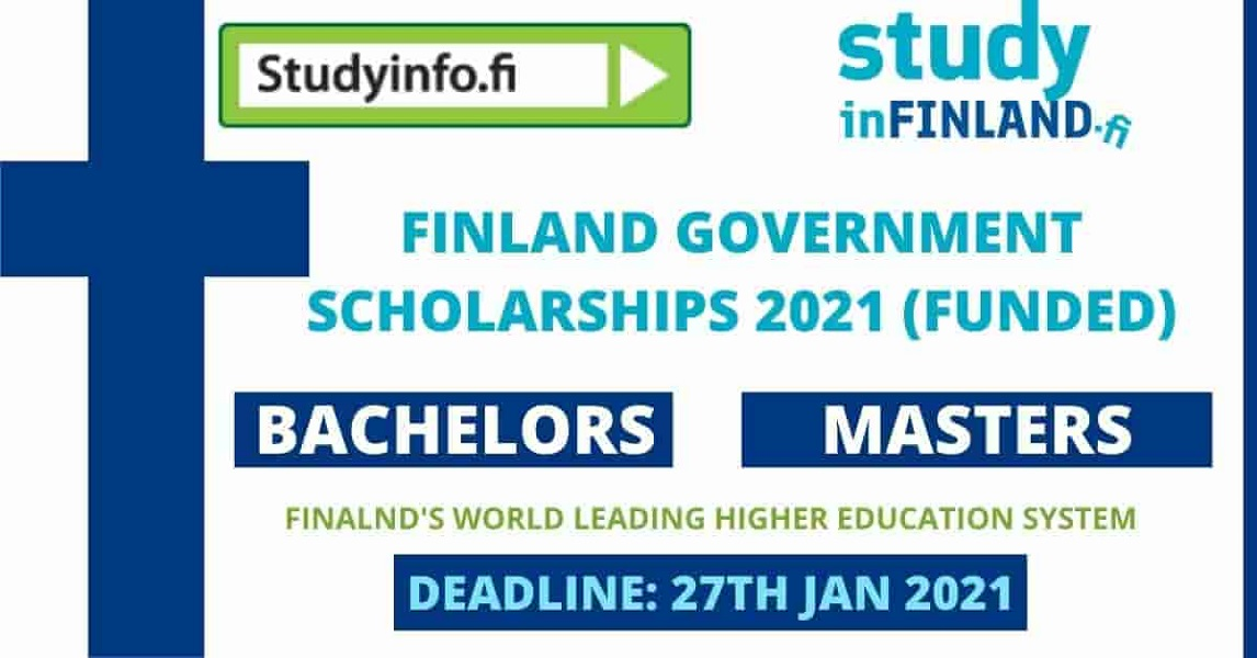 Finland Government Scholarship 2021 | Fully Funded