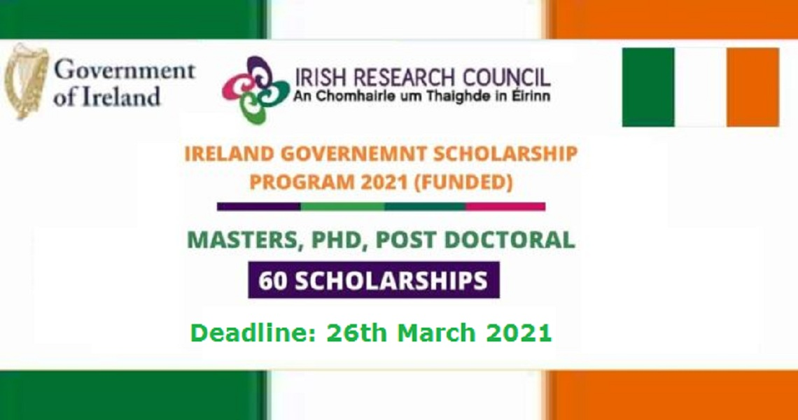 Ireland Government Scholarship 2021 Funded