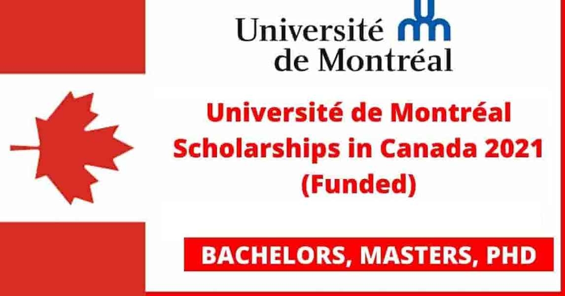 University of Montreal Scholarships 2021 in Canada