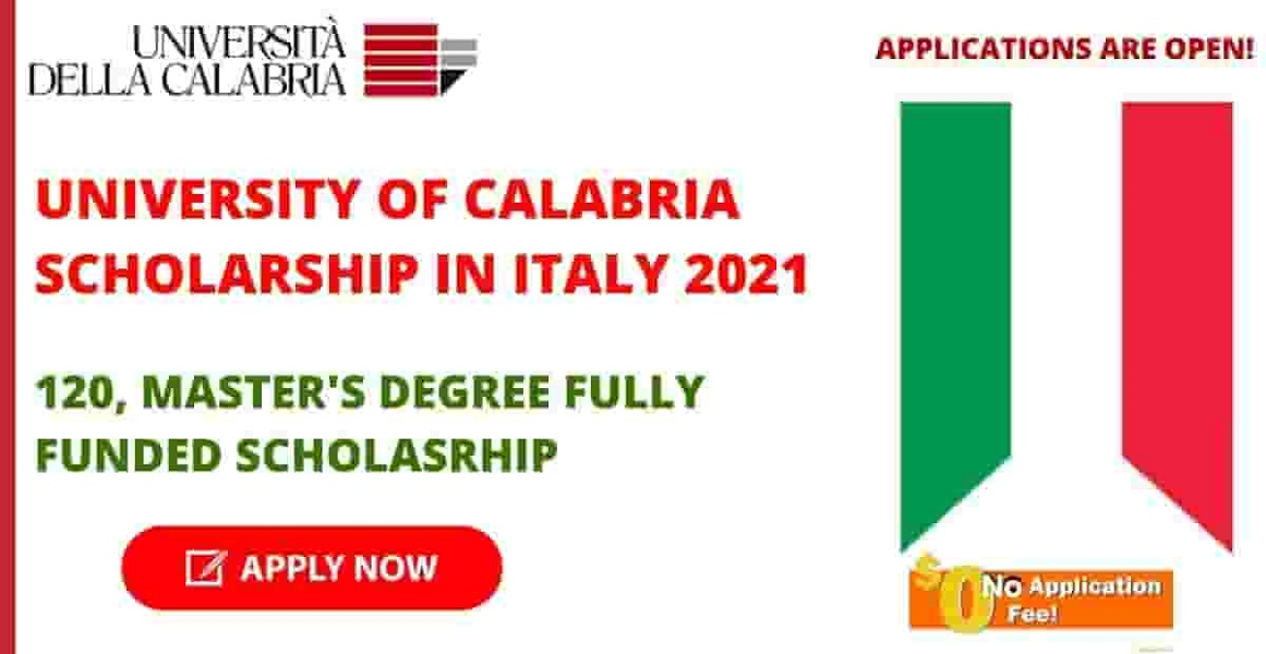 University of Calabria Italy Scholarships 2021 [Fully Funded]