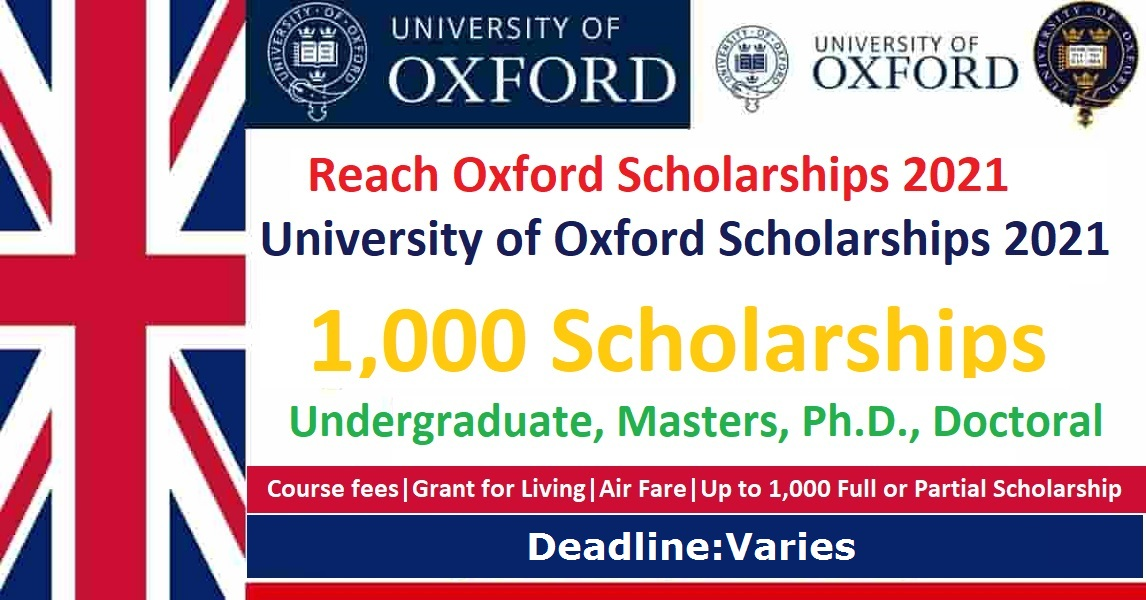 University of Oxford Rhodes Scholarship 2021-2022 in United Kingdom | Fully Funded