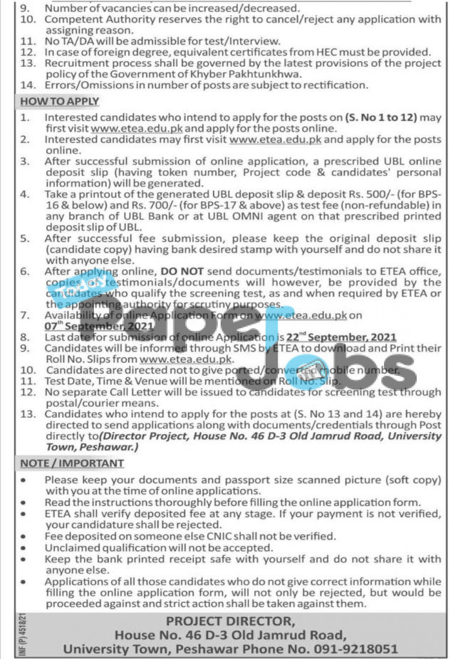 Industries Commerce and Technical Education Kpk Jobs 2021 in Khyber Pakhtunkhwa 4
